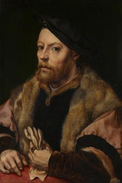 A Man Holding a Glove, Ca 1532 by Jan Gossaert