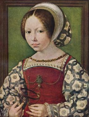 'A Young Princess (Dorothea of Denmark)', c1530-32 (c1927) by Jan Gossaert