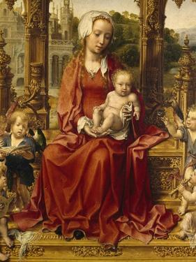 Madonna with Child and Angel Musicians, Central Panel of Malvern Triptych, 1511-1515 by Jan Gossaert