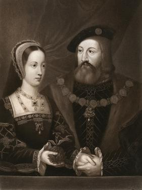 Mary Tudor and Charles Brandon, Duke of Suffolk, 1515 by Jan Gossaert