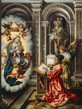 Saint Luke Painting the Madonna, C. 1520 by Jan Gossaert