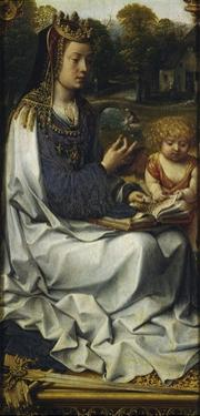 St Dorothy, Detail from Left Panel of Malvagna Triptych, Right-Hand Side, 1511-1515 by Jan Gossaert