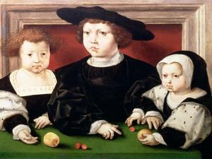 The Children of King Christian II of Denmark by Jan Gossaert