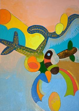 Ten Minutes after His Final Take-Off, Ikarus Gets Attacked by a Bird of Paradise, 2010 by Jan Groneberg