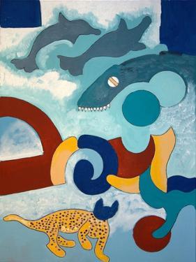 The Leopard Has a Blue Head, 2009 by Jan Groneberg
