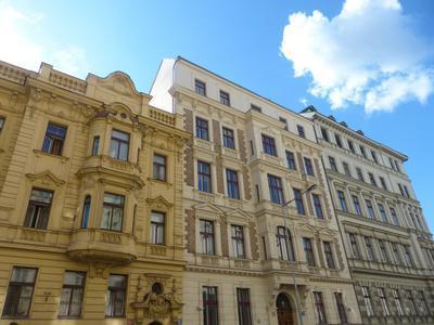Prague, Art Nouveau houses at Opletalova Street