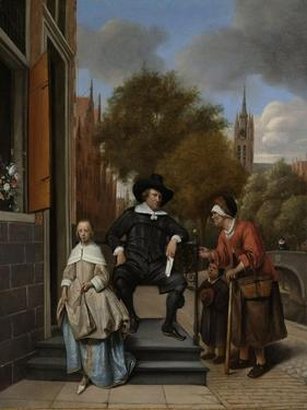 Adolf and Catharina Croeser, known as the Burgomaster of Delft and His Daughter by Jan Havicksz Steen