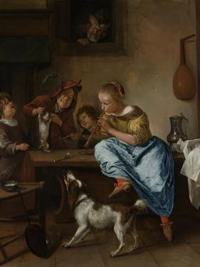 Children Teaching a Cat to Dance, known as the Dancing Lesson by Jan Havicksz Steen