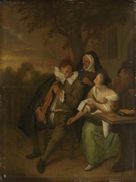 Man with a Fiddle in Bad Company by Jan Havicksz Steen