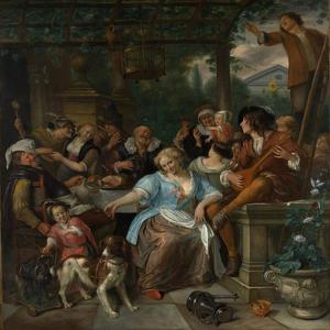 Merry Company on a Terrace, c.1670 by Jan Havicksz. Steen