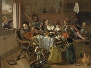 Merry Family by Jan Havicksz Steen