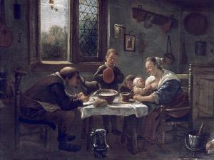 Prayer before Lunch by Jan Havicksz. Steen