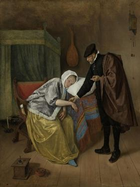 Sick Woman by Jan Havicksz Steen
