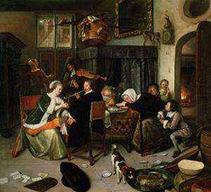 The Dissolute Household, 1668 by Jan Havicksz. Steen