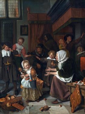 The Feast of St. Nicholas (Christmas) by Jan Havicksz. Steen
