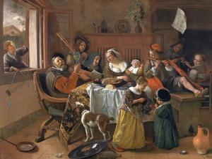 The Merry Family by Jan Havicksz. Steen