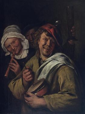 The Rommelpot: Interior with Three Figures by Jan Havicksz Steen