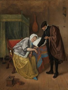 The Sick Woman, c. 1663-66 by Jan Havicksz. Steen