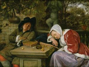 The Sleeping Couple, C.1658-60 by Jan Havicksz. Steen
