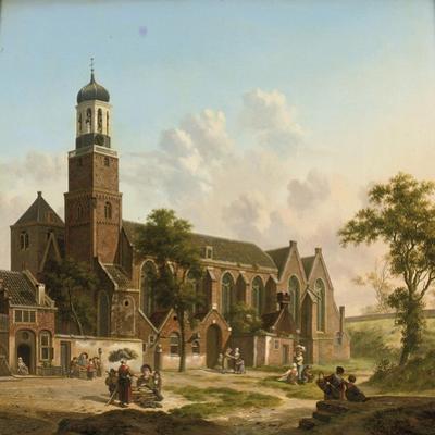 Townspeople Near the Nicolaikerk, Utrecht