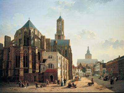 View of the Choir and Tower of Utrecht Cathedral, C. 1829