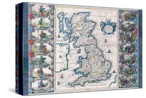 Antique Map, Britannia, Ca. 1646 by Jan Jansson