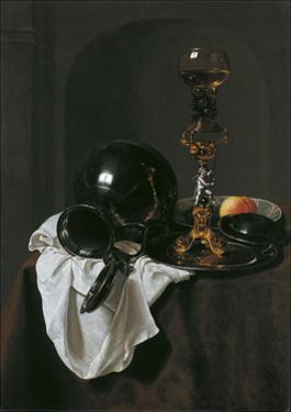 Still Life with Glass of Wine and Pewter Jug by Jan Jansz Treck