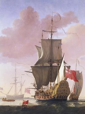 Galleon in Full Sail by Jan Karel Donatus Van Beecq