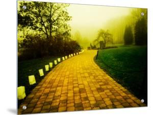 Golden Brick Road Lined with Luminaries by Jan Lakey