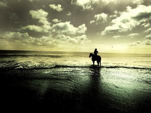 Horseback Riding in the Tide by Jan Lakey