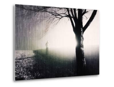 Standing in the Rain under Tree