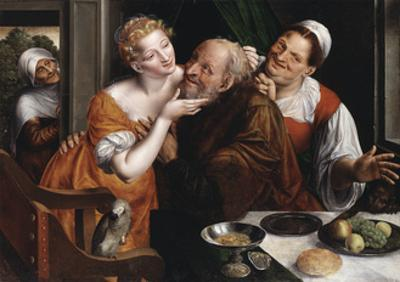 The Ill-matched Pair, 1566 by Jan Massys or Metsys