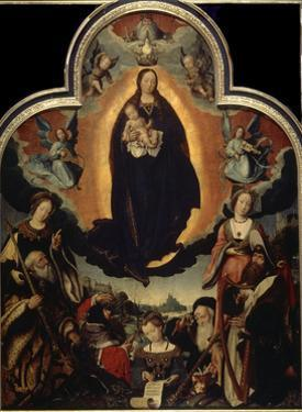 'The Glorification of the Virgin', 1524 by Jan Provoost