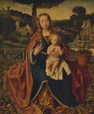 'The Virgin and Child in a Landscape', c1520 by Jan Provoost