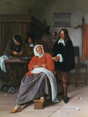 A Man Offering an Oyster to a Woman, C1660-1665 by Jan Steen