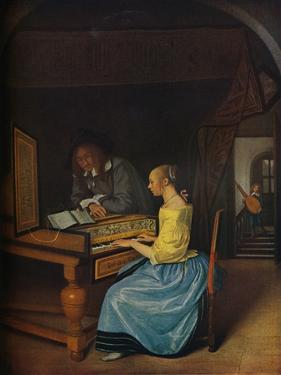 'A Young Woman playing a Harpsichord to a Young Man', 1659 by Jan Steen