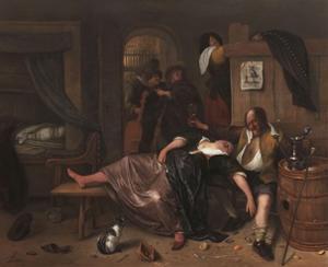 The Drunken Couple, 1655 by Jan Steen
