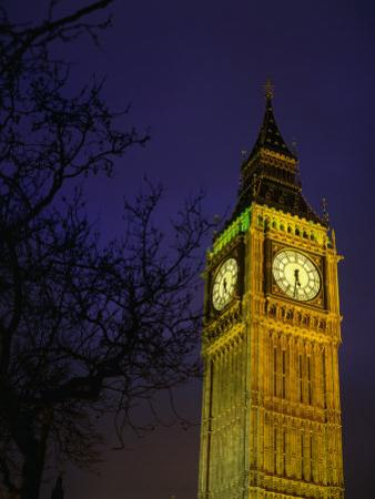 Big Ben at Night, London, Greater London, England