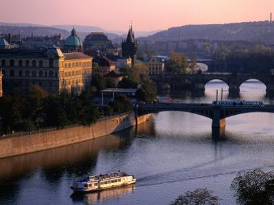 Boating Up the Valta River, Prague, Central Bohemia, Czech Republic