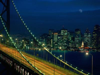City View from the Bay Bridge, San Francisco, California, USA