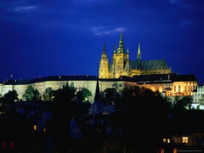 Historic Prague Castle or Hradcany Castle, Prague, Central Bohemia, Czech Republic
