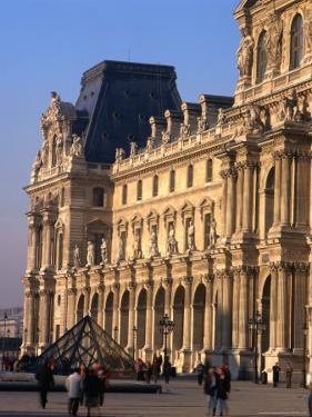 Louvre Museum and Smaller Pyramid, Paris, Ile-De-France, France by Jan Stromme