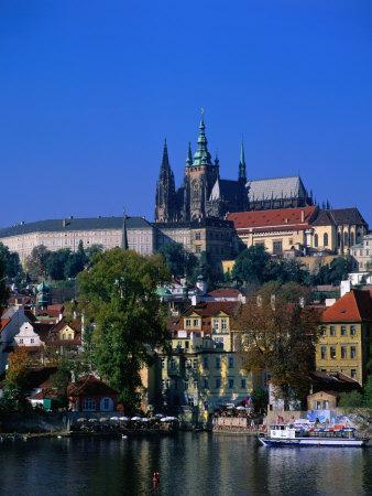 Old Town and Hradcany Castle, Prague, Central Bohemia, Czech Republic