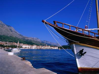 Traditional Schooner in Markarska Harbour, Makarska, Split-Dalmatia, Croatia