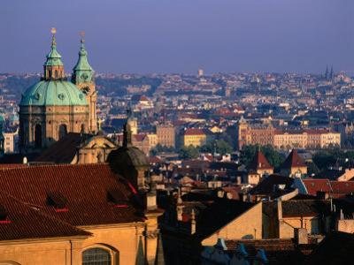 View of City from the Rooftops, Prague, Central Bohemia, Czech Republic