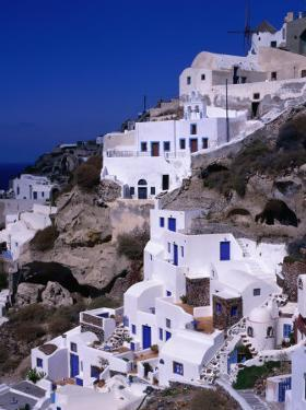White Cliff-Side Houses, Oia, Santorini Island, Southern Aegean, Greece by Jan Stromme