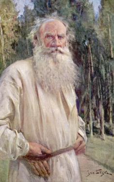 Leo Tolstoy Russian Novelist in Old Age by Jan Styka