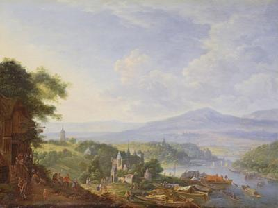 View on the Rhine, Near Cologne, C.1700-10