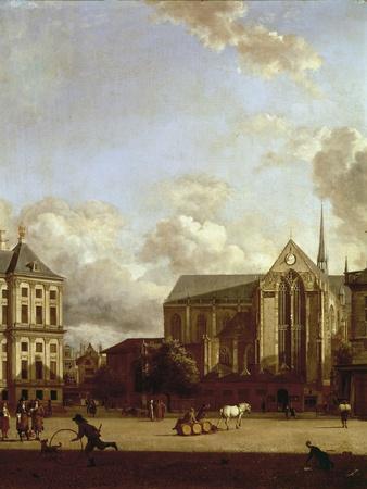 Dam Square with Nieuwe Kerk (New Church) and Koninklijk Paleis (Royal Palace)