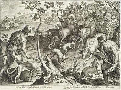 Plate from the Series Venationes Ferarum, Avium, Piscium, Fiandre